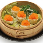 トビコ焼売 : Tobiko Shumai Steamed Shrimp Dumpling Topped with Smelt Roe  $9.00