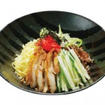 冷やし中華(季節限定): Hiyashi Chuka (Seasonal menu : Summer Only) $15.00/$9.00
