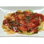 海老のチリソース煮 Ebi Chili  Sauteed Prawn served with Spicy Tomato Sauce $25.00 /$13.00