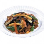麻婆茄子 Mabo Nasu Sauteed Eggplant with Minced Pork in Spicy Sauce $16.00 / $9.00