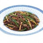 青椒牛絲 Qin Zhao Rosi Shredded Beef & Green Pepper Sauteed with Bamboo Shoots $22.00/$12.00